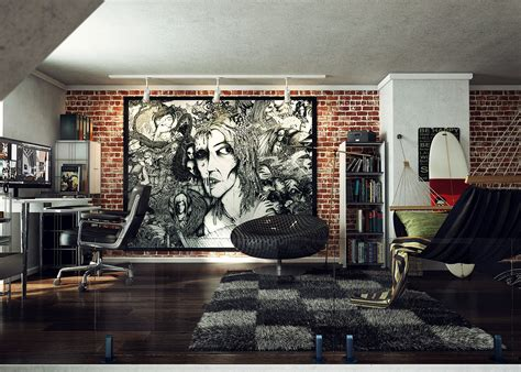 home interiors wall art loft design inspiration