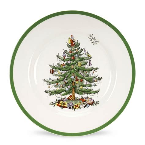 christmas tree set of 12 dinner plates by spode