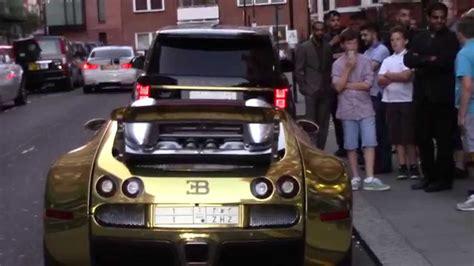 gold range rover 2017 gold bugatti veyron range rover combo outside harrods