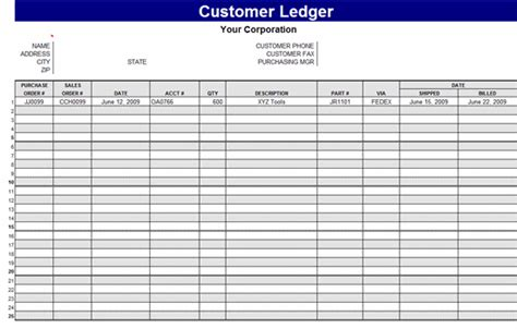 simple ledger template preview image general ledger template