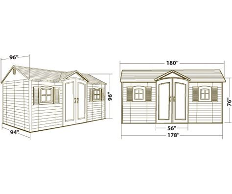 Lifetime 6446 15 By 8 Foot Outdoor Storage Shed by Lifetime Model 6446 Garden Storage Shed 15 X 8 Ft