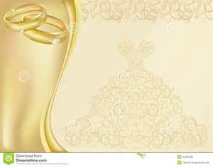 wedding invitation card with two golden rings royalty free