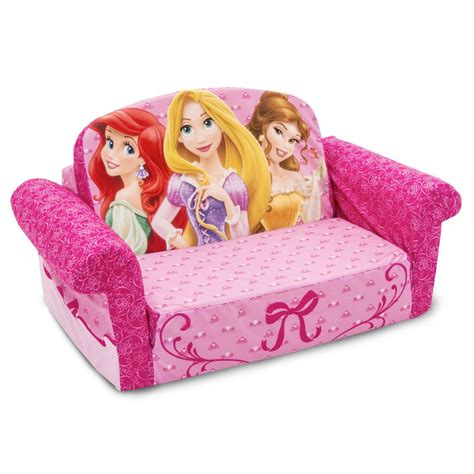 princess pull out couch spin master marshmallow furniture flip open sofa disney