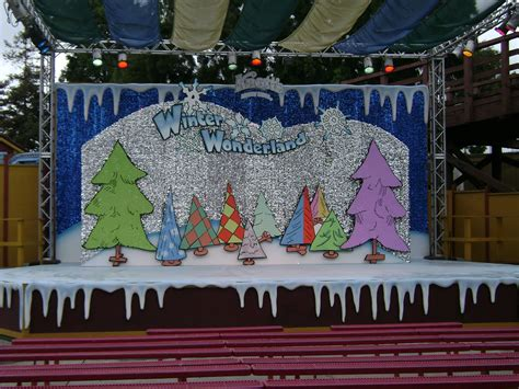 christmas themes for school quot winter wonderland quot stage at c snoopy