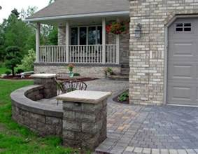 front yard patio courtyard johnson patios design ideas