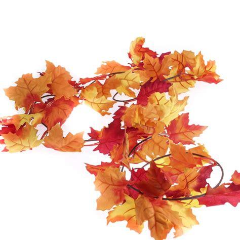 autumn artificial maple leaf garland garlands floral supplies craft supplies