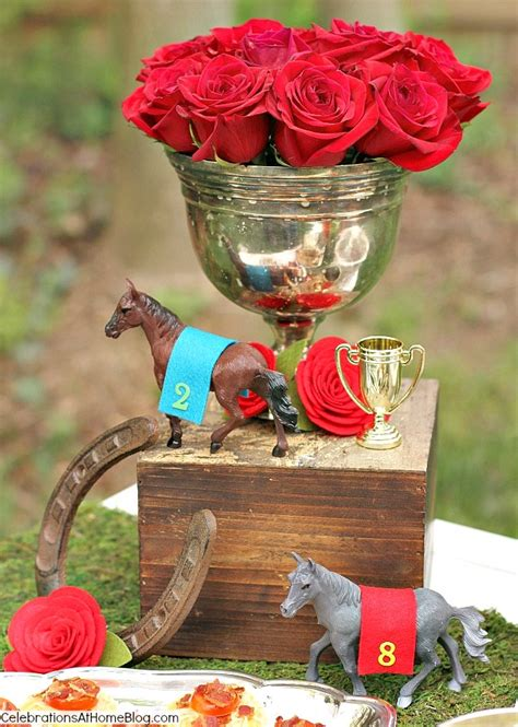 Top Tips Recipes To Host The Best Derby Viewing Party Kentucky Derby Centerpieces
