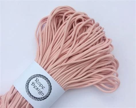 Crochet With Macrame Cord - 5mm textile cord 100 m rope for knitting chunky polyester