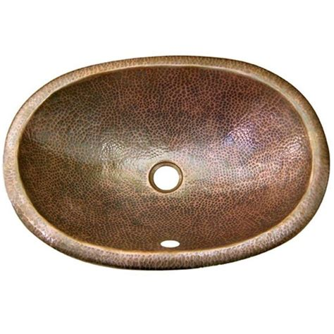 vintage drop in bathroom sinks shop houzer hammerwerks copper drop in elliptical bathroom