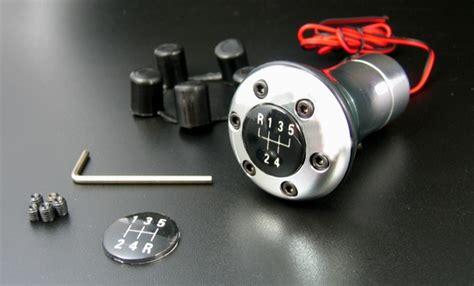 pomello cambio led pomello cambio per retromarcia classica a led rosso