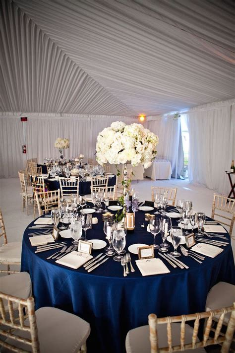 Navy Blue Table L Blue Wedding Ideas With Beautiful Charm Modwedding