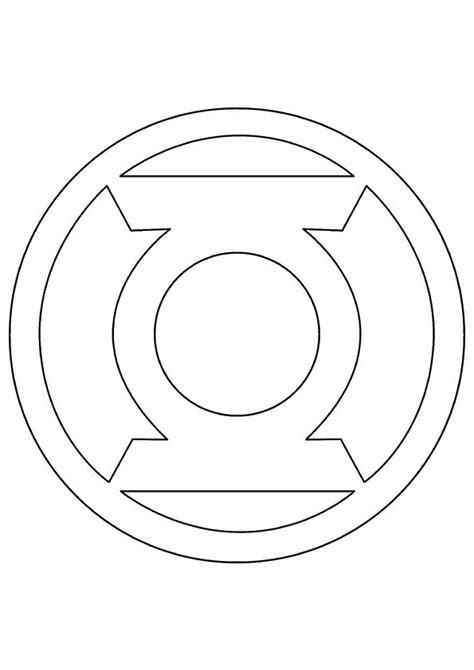 Green Lantern Logo Flip green latern free coloring pages