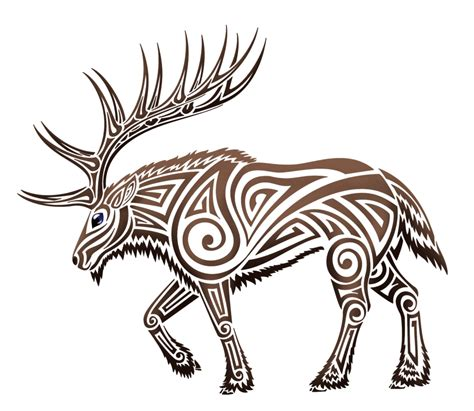tribal elk tattoos elk