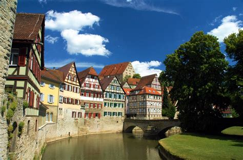 Schwaebisch Hall Town in Germany jigsaw puzzle in Street