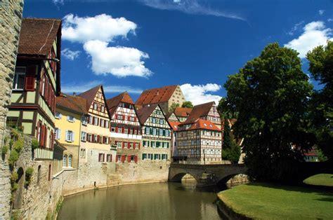 Schwaebisch Hall Town in Germany jigsaw puzzle in Street