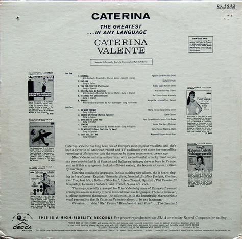 caterina valente languages female vocal c