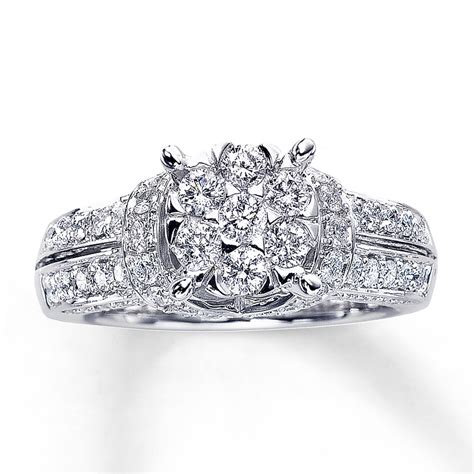 engagement ring 1 3 8 ct tw cut 14k