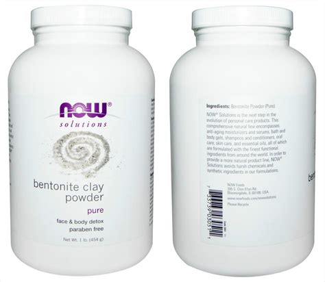 Detox Clay Powder by Now Foods 100 Bentonite Clay P End 8 1 2017 7 20 Pm