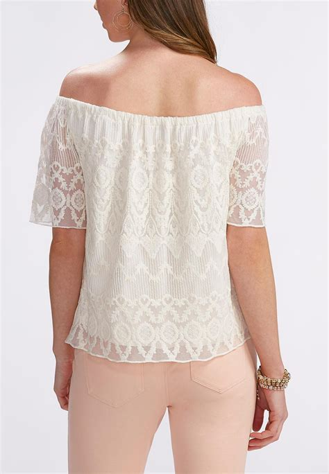 knit tops and tees lace the shoulder top plus tees knit tops cato