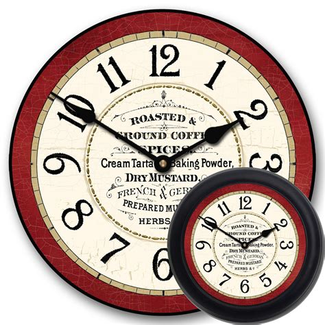 kitchen clocks red kitchen wall clock vintage kitchen clock