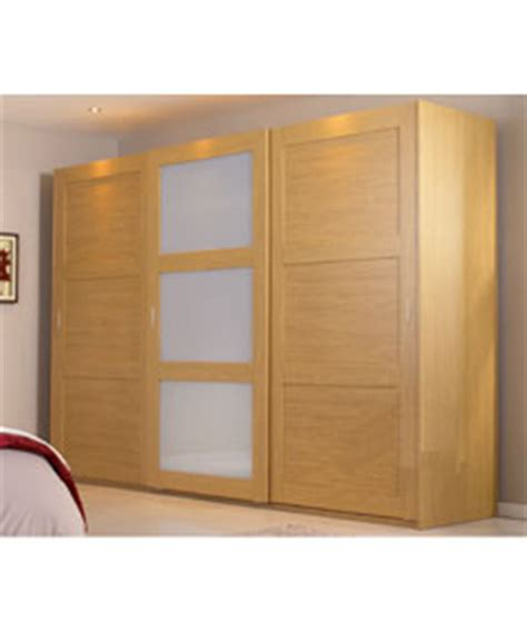 Oak Sliding Wardrobe Doors Uk by Schreiber Sliding Wardrobe Package Shaker Oak 2 Door