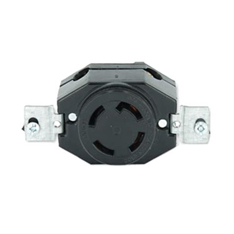 leviton 3430 locking single receptacle flush mount 120