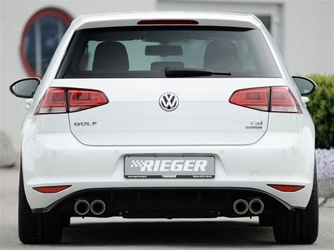 golf mk rieger quad rear exhaust outlet diffuser