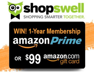 Amazon Giveaway Prime - shopswell shopping smarter