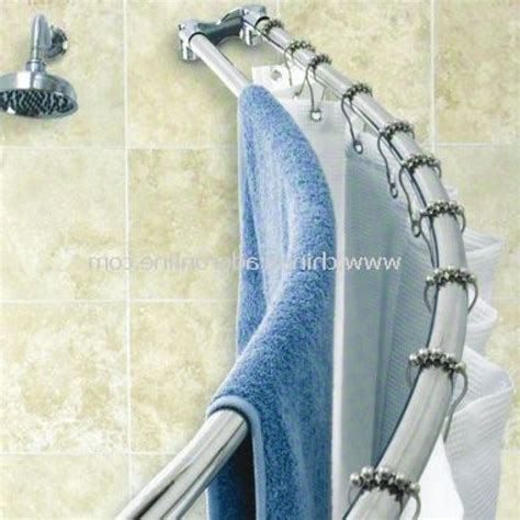 Curved Shower Curtains Homitex Curved Shower Rod Stainless Steel Curved Tension Shower Curved Tension Shower Curtain
