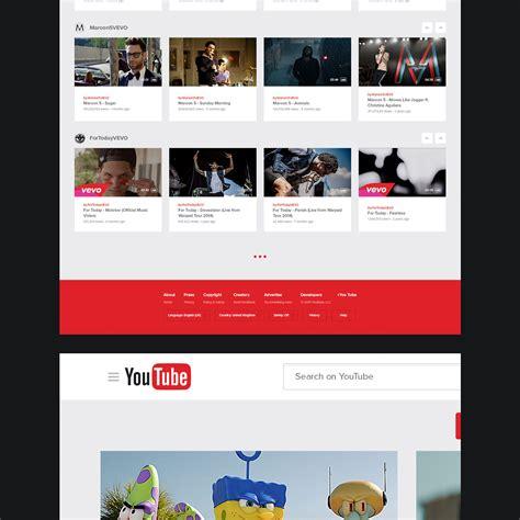 concept design youtube new ux design concept of youtube 2015 by lucas nonato