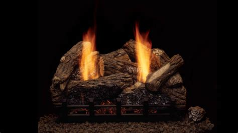 beautiful ceramic logs configuration for gas fireplace