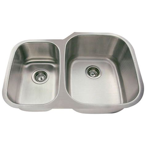 Home Depot Undermount Kitchen Sink Polaris Sinks Undermount Stainless Steel 29 In Bowl Kitchen Sink P015 16 The Home Depot