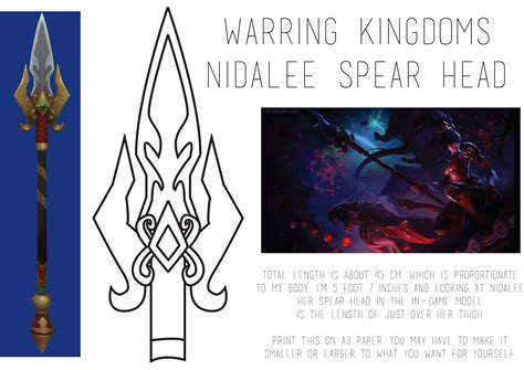 spear template warring kingdoms nidalee spear template by thosedamnllamas