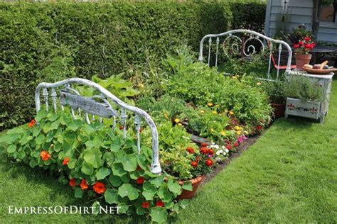 hometalk repurposed bed frame  garden bed