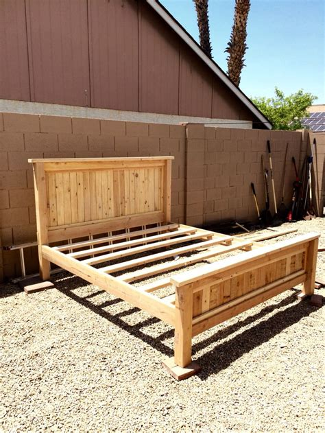 King Size Bed Frame Diy 17 Best Ideas About King Bed Frame On Pinterest King Size Bed Frame Bed Frames And Wood