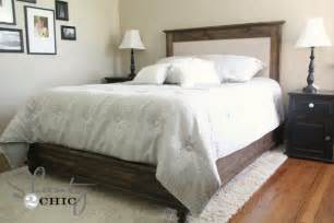Wood And Upholstered Headboard White Chestwick Upholstered Headboard Diy Projects