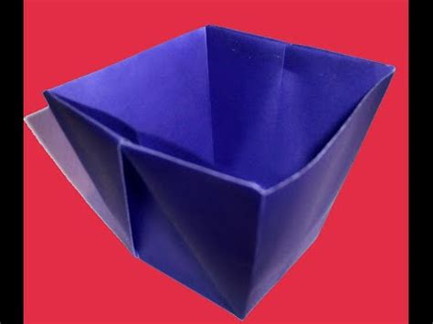 Origami Cup - cup using origami paper how to make an origami