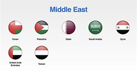 Arabic Flag Set 3in1 free set of middle east flags icons for your presentations presomakeover