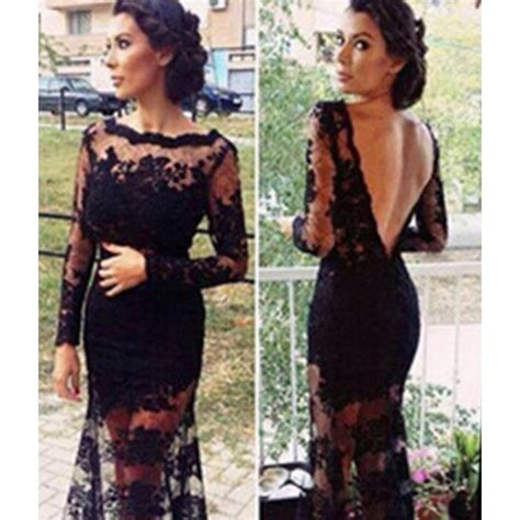 Novel Pop Antik Wanita Buaja panjang lace dresses untuk prom beli murah panjang lace dresses untuk prom lots from china