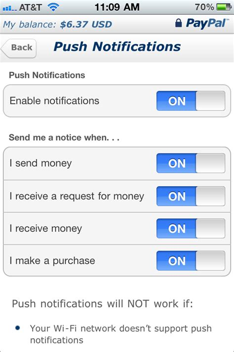 paypal mobile application paypal mobile app now has notification alerts help center
