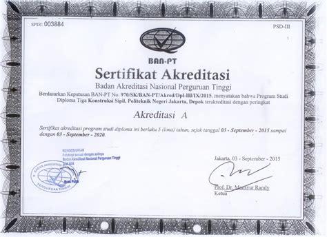 Surat Keterangan Akreditasi Universitas by Contoh Surat Akreditasi Program Studi Buku 3a Akreditasi