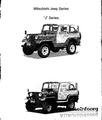 mitsubishi jeep 2008 mitsubishi jeep j series service manual 1994 2008
