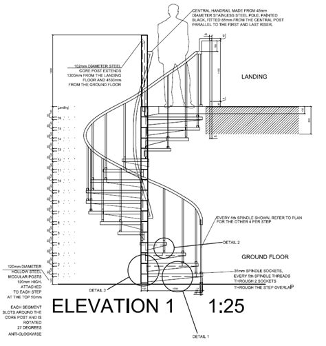section drawing of staircase autocad 2012 spiral staircase detail drawings plan
