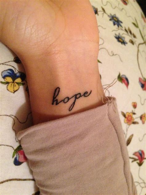 hope tattoo wrist tattoos amp piercings pinterest