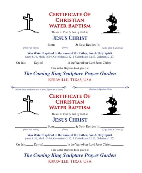 Free Printable Baptism Certificates Templates by Free Printable Baptism Certificate Free Printable Church