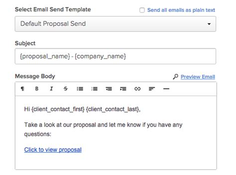 Proposify Docs Preview Sending To Clients Video Email Template For Sending Quotation To Client