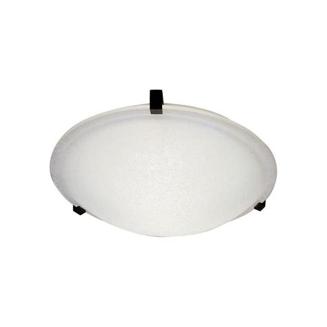 Plc Lighting 1 Light Ceiling Light Black Frost Glass Flush Home Depot Flush Ceiling Lights