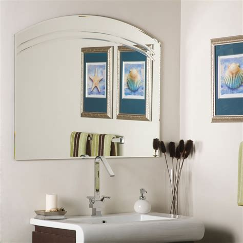 Frameless Wall Mirror Frameless Beveled Wall Mirror Frameless Bathroom Wall Mirrors