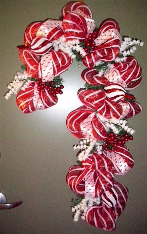 deco mesh wreath how to deco mesh and ribbon candy cane