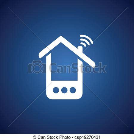 tel fono de la tienda en casa vector tel 233 fono casa encima azul stock de